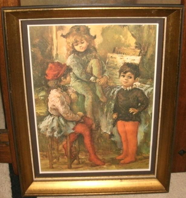 Tablou de epoca pictura pe placaj semnat