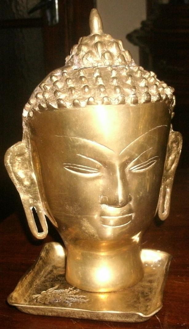 bust Buddha sculptura antica bronz