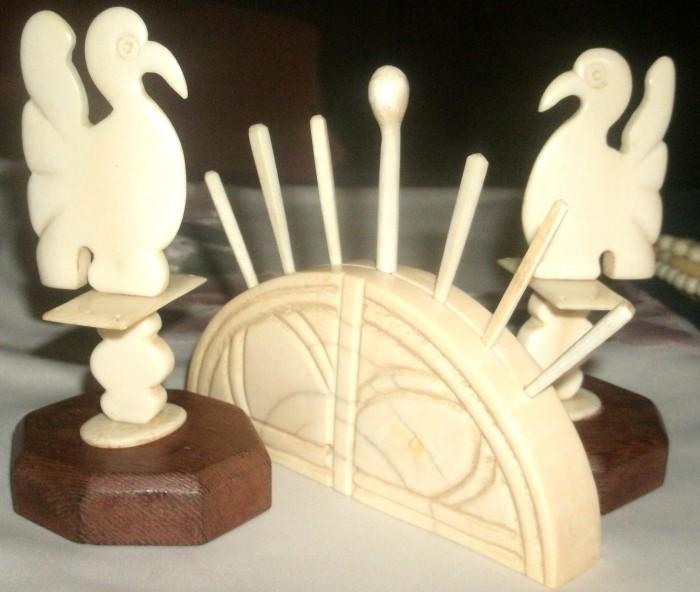 suporturi antice orientale  scobitori art deco fildes