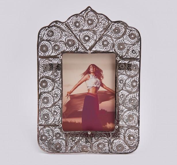 Cadru foto din argint masiv filigranat,deosebit!