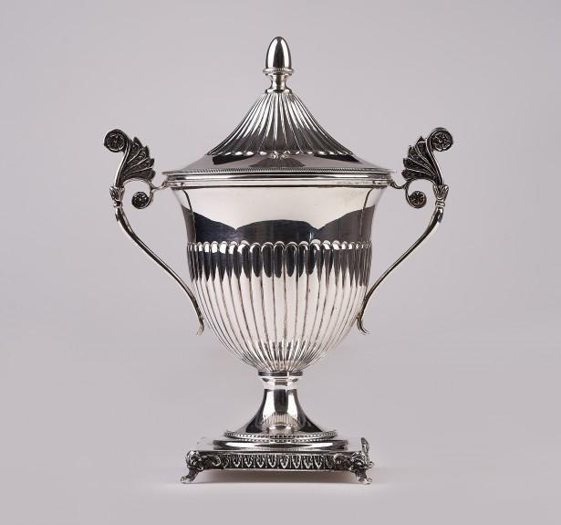 Superba cupa,pocal,trofeu mare argint masiv,Italia cca 1900 ,expertiza