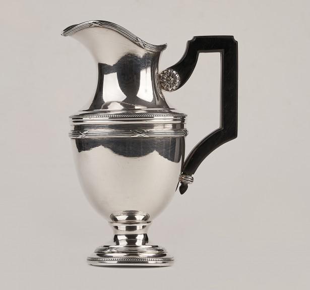 Carafa,cana cafea,vin argint masiv 950,Franta sec 19,ArtNouveau