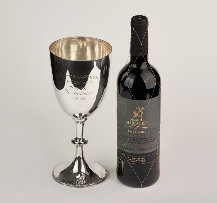Cupa,pocal din argint 925- Londra,purificare apa 780 ml