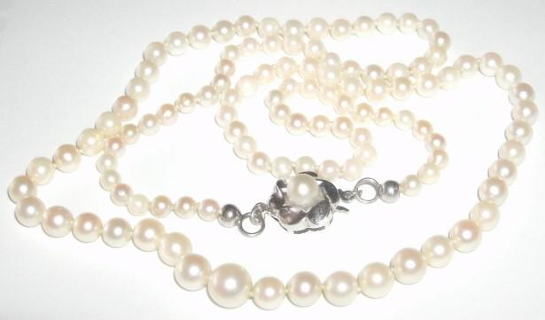 colier perle naturale marimi descrescatoare