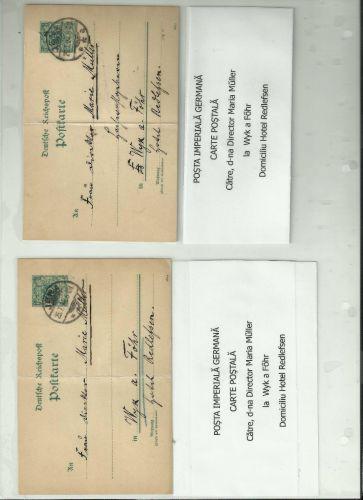 Pereche de carti postale - 1894