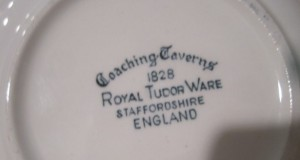 Royal Tudor - Coaching Taverns  Lunch Plates , Dark Teal Colour