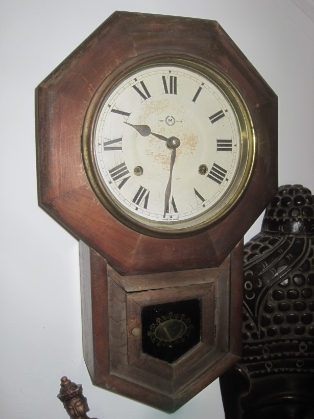 Antique Ansonia Short Drop Octagonal School House Clock (1901)