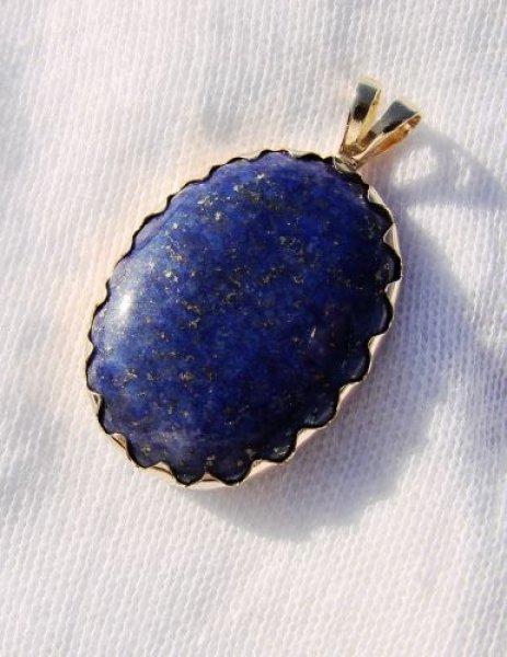 Superb unicat pandantiv cu lapis lazuli natural certificat