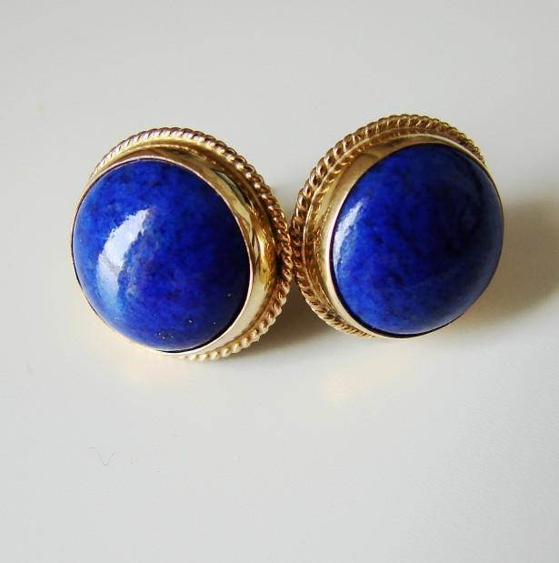 cercei aur 14k cu lapis lazuli