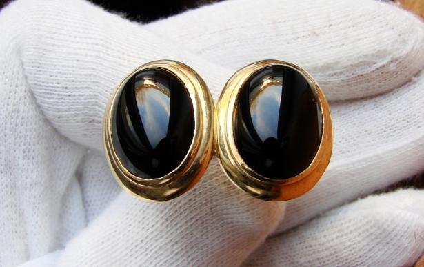 cercei aur 14k cu onix
