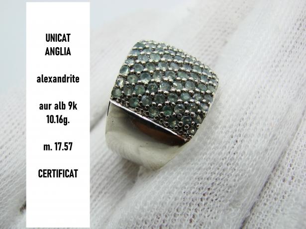 unicat inel aur aLB 9k cu alexandrite alexandrit rusesc rusia
