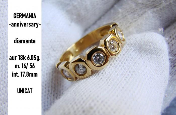 inel aur 18k aniversar eternity 0.70ct. diamante brilliante