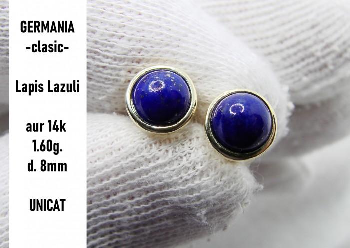 cercei aur 14k cu lapis lazuli germania