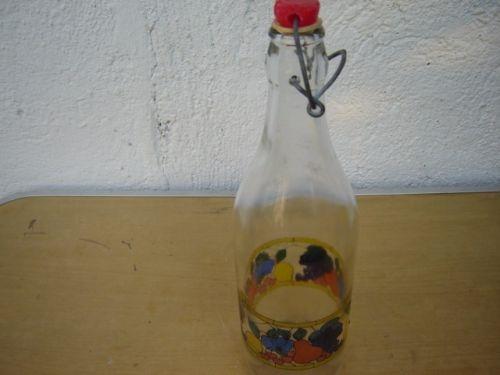 Sticla cu dop pictata