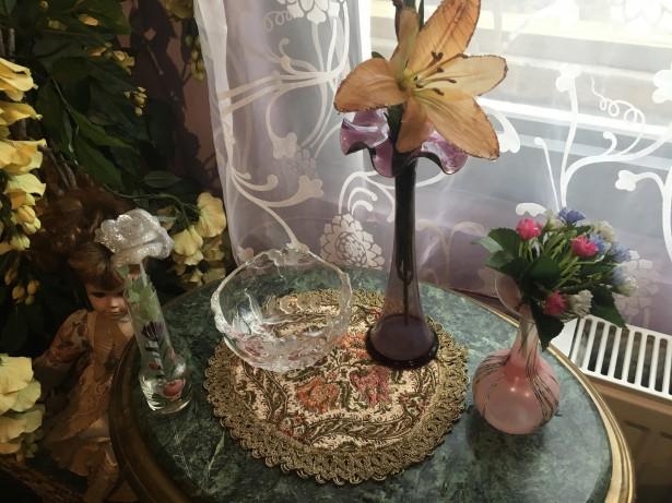 Deosebit set vaze  murano si bol semicristal,Italia