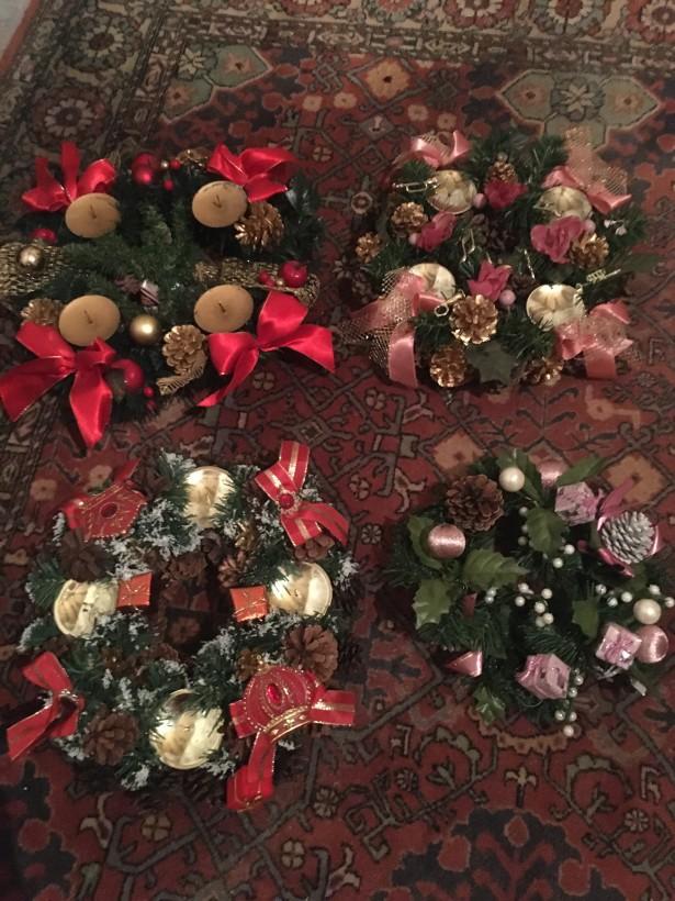Deosebite  ornamente sarbatori iarna,lucrate manual,Olanda