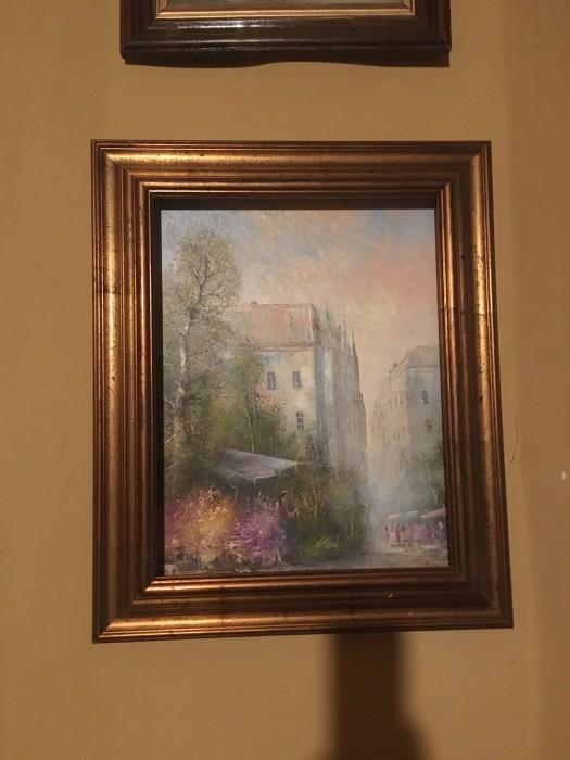 Deosebit tablou, pictura manuala in ulei  pe panza,Anglia